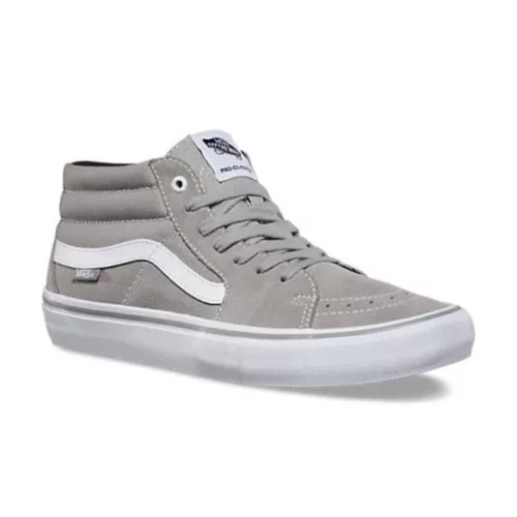 e796681a787 Vans Sk8 Mid Pro Drizzle Gray Men's skateboarding NWT